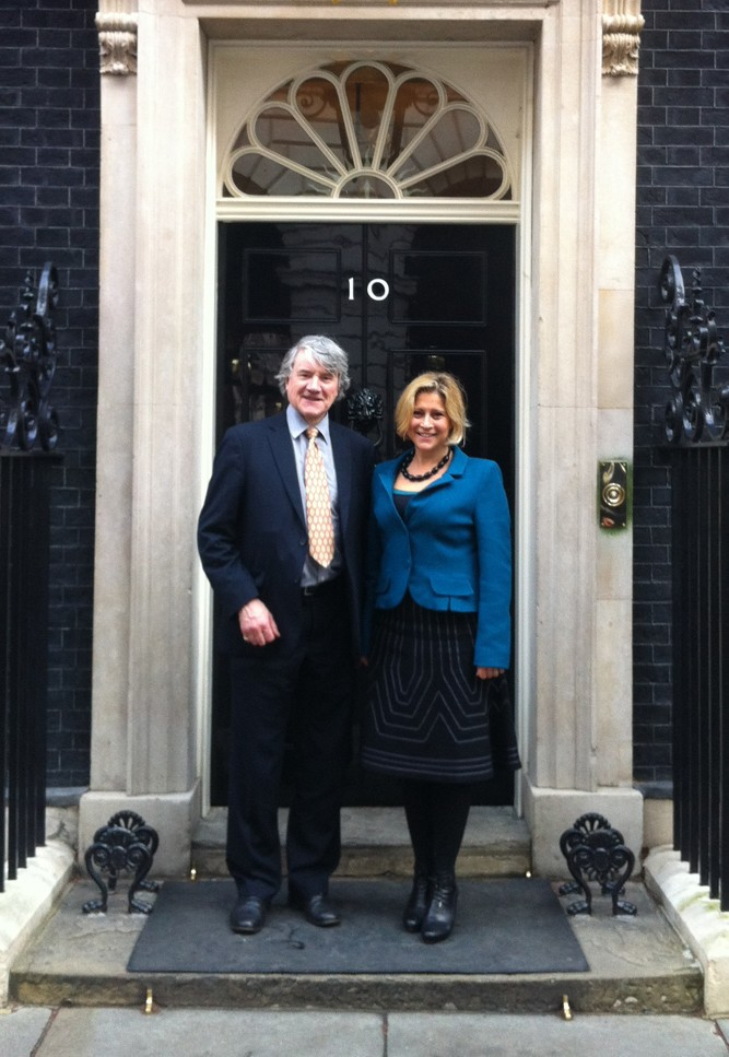 Alison and Alan at 10 Downing Street