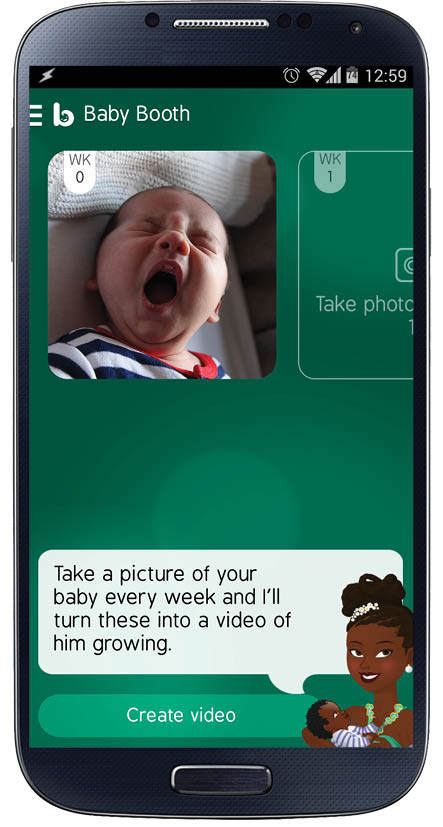 Baby Booth feature on Baby Buddy Android app