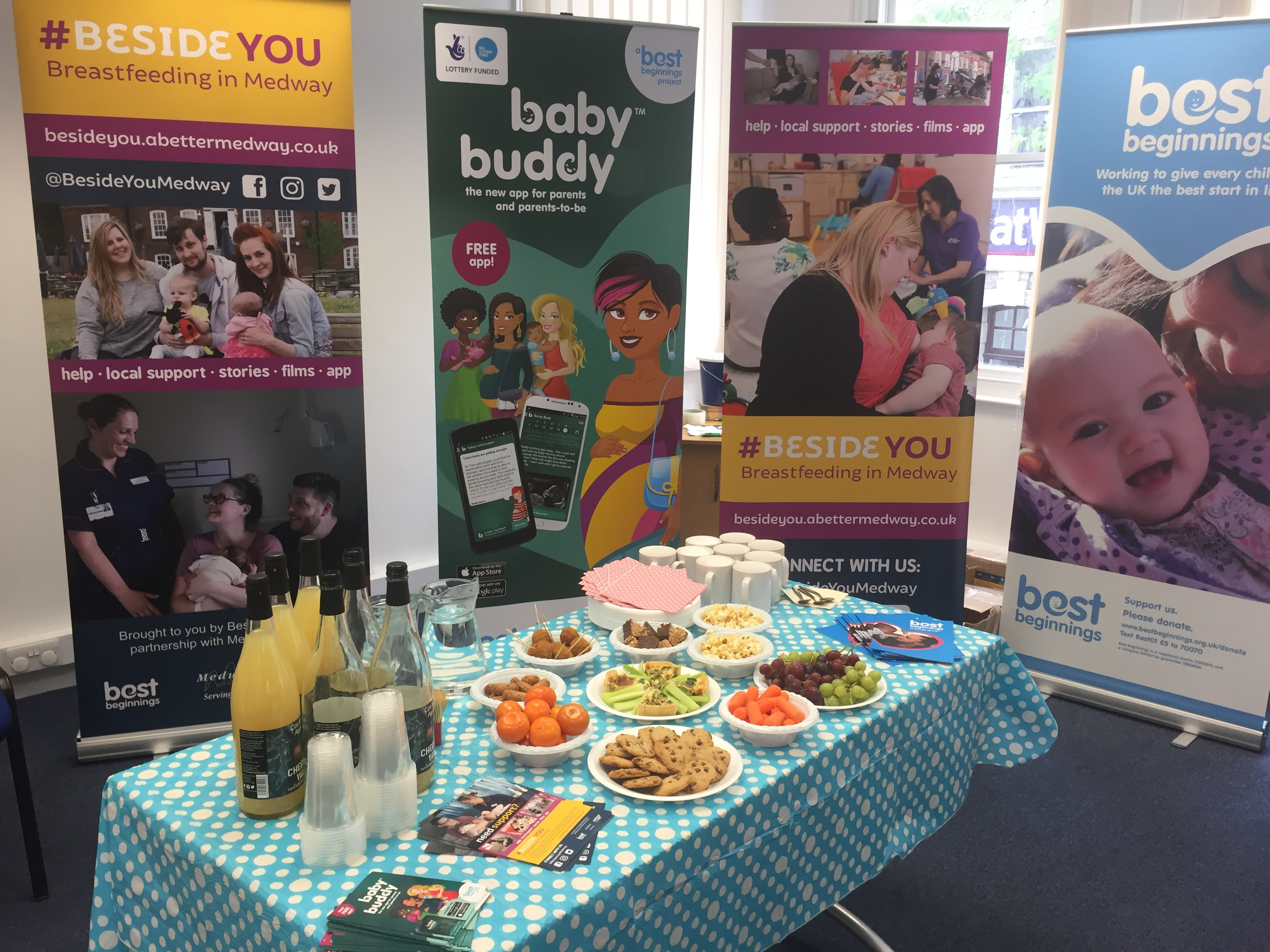 #BesideYou, breastfeeding in Medway, afternoon tea, Baby Buddy, Best Beginnings