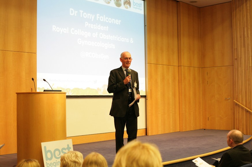 Dr Tony Falconer addresses the guests