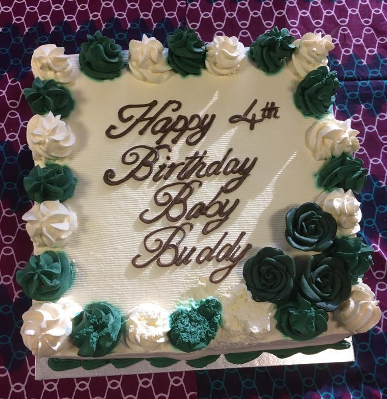 Baby Buddy 4 years old birthday cake photo