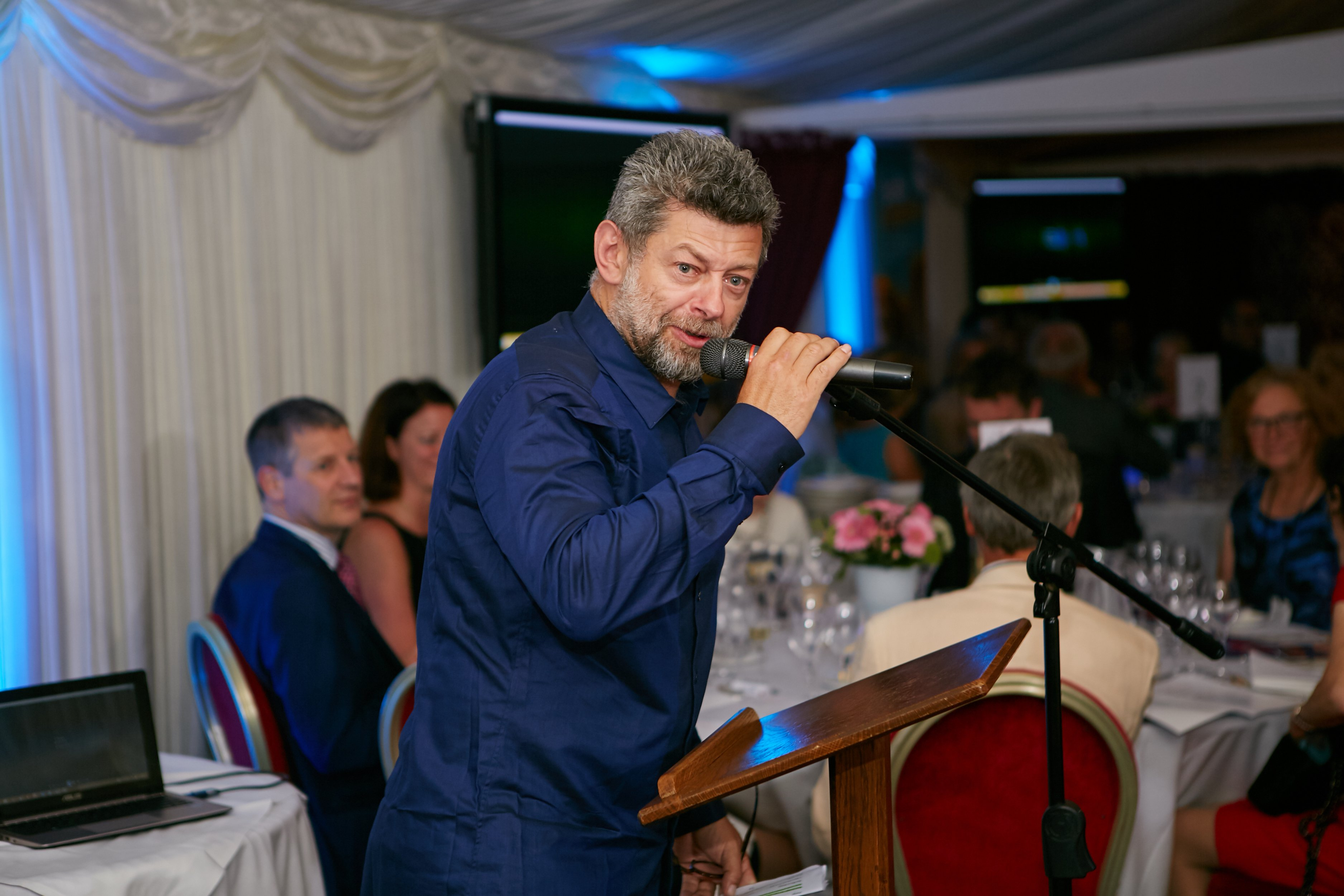 Actor and director Andy Serkis was master of ceremonies at the launch event for SpringBoard.