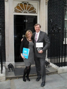 Best Beginnings CEO Alison Baum and Chair of the Early Intervention Foundation Graham Allen MP at the EIF launch